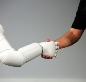 Poignee robot humain